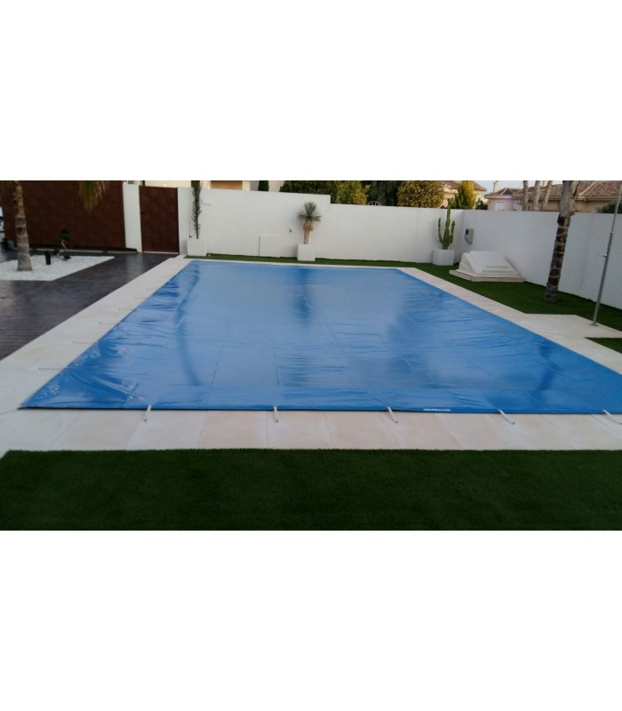 Lona cubierta piscinas rectangular pvc impermeable bicapa for Lona impermeable para piscina
