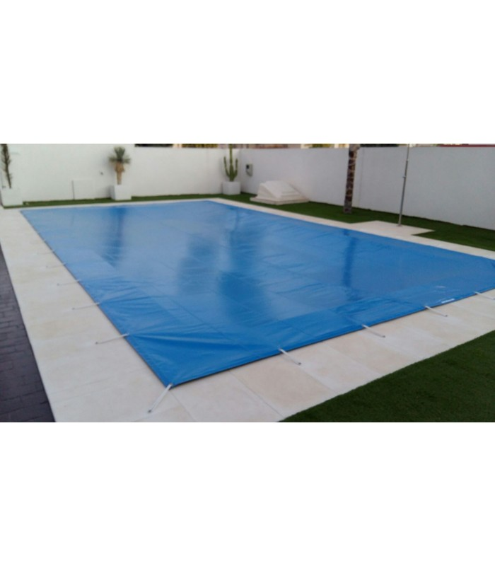 Lona cubierta piscinas rectangular pvc impermeable bicapa for Piscina 8x4 oferta