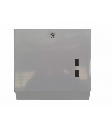 Toallero ZZ Dispensador Pared. Acero inoxidable, epoxi blanco. Capacidad 600 servicios.