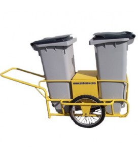 Carro de limpieza viaria 2 cubo - Street Cleaning Cart