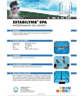 ESTABILYMB ® SPA: Antiespumante Gel Líquido para Piscinas, SPAS y Fuentes. Botella 900 ml
